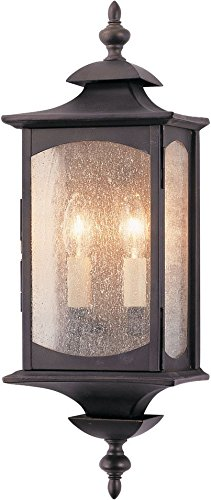 Feiss OL2601ORB Market Square Outdoor Lighting Wall Pocket Sconce, Bronze, 2-Light (7