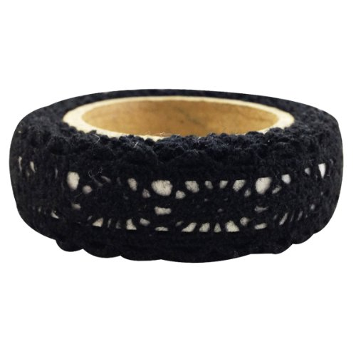 - Wrapables Decorative Lace Tape, Black