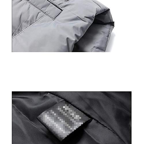 Para Packaway Grey Acolchada Ligera Algodón Jiamij Hombre Superior Chaleco Chaqueta Resistente De Al Agua XZwO0Wnc1q