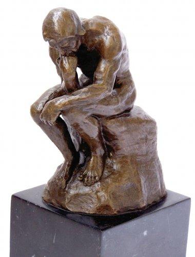 Bronzeplastik Auguste Rodin Skulptur in Bronze Wohndeko Figur Statue Bronzefigur Kunst /& Ambiente Der Denker Geschenk Paris