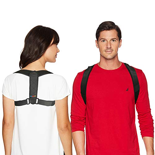 Langoofit Posture Corrector for Men and Women, Adjustable Upper Back Brace for Clavicle Support, Providing Pain Relief from Neck, Back & Shoulder, and Correcting Slouching, Hunching & Bad Posture