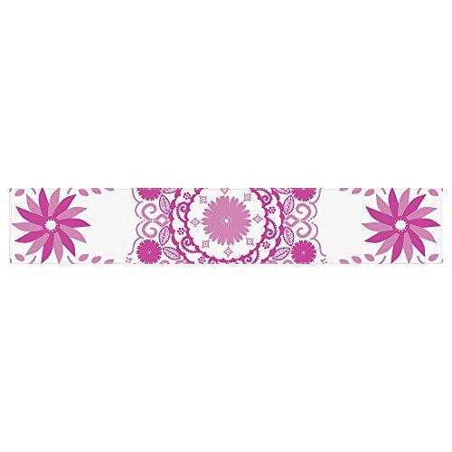 KESS InHouse Anneline Sophia ''Let's Dance Fuschia'' Pink Floral Table Runner, 16'' x 180'' by Kess InHouse