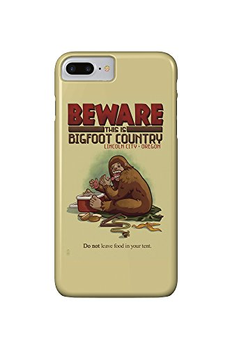 Lincoln City, Oregon - Bigfoot Country - Don't Store Food in Tent (iPhone 7 Plus Cell Phone Case, Slim Barely - Stores City In Lincoln Oregon