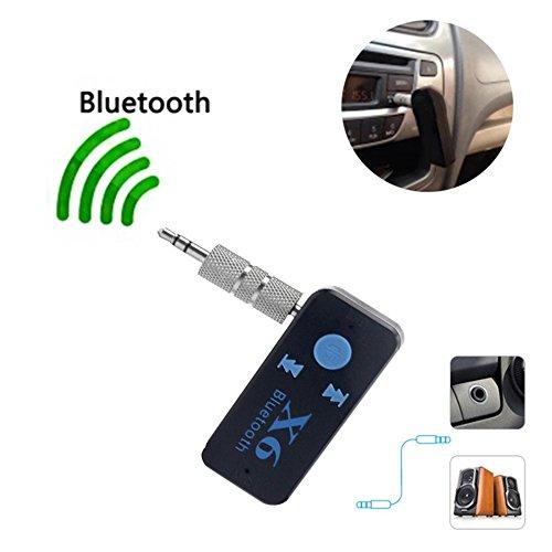 Voiture Bluetooth X6 Musique R/écepteur Adaptateur 3.5mm Jack Kit mains libres sans fil Couleur: noir