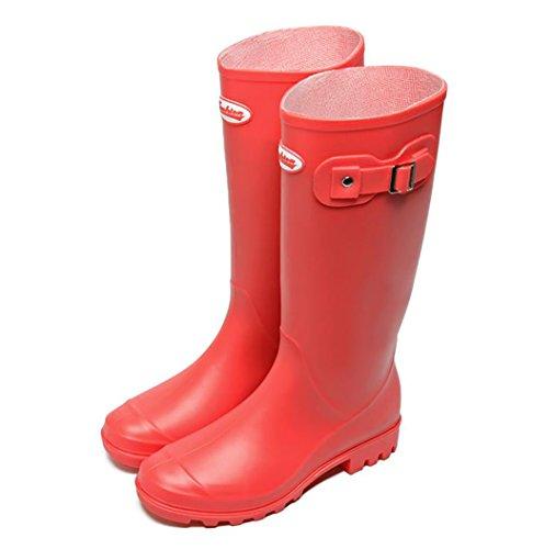 Rain Martin Rojo Boots Lluvia De Botas Wellington Goma Lady C7wxq75