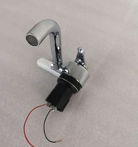 GR-S001E 12V Electrical 360/° Rotating Full Copper Cold Hot Water Faucet Tap for Boat RV Caravan Motorhome