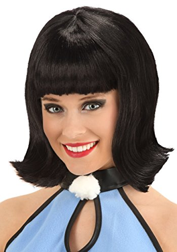 Fun Costumes Womens Deluxe Betty Rubble Wig Standard Black]()