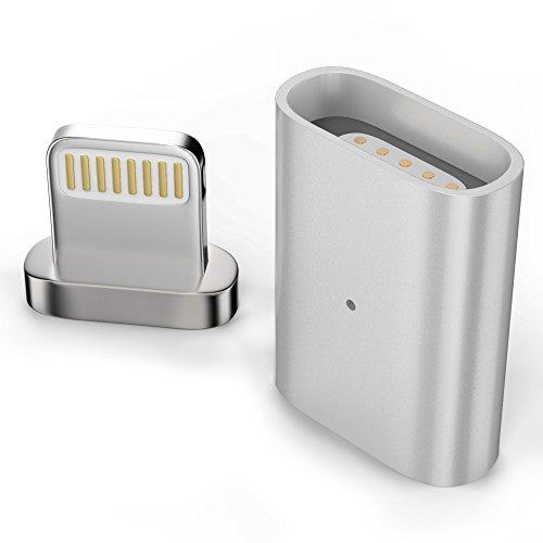 esorio® Lightning auf Lightning Adapter magnetisch Connector in silber