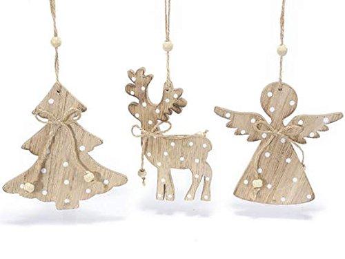 Alberi Di Natale In Legno Da Appendere : Decorazioni in legno addobbi di natale in legno da appendere