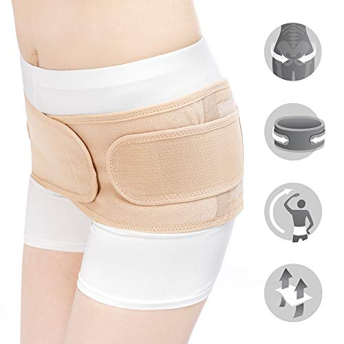 - Bracoo Postpartum Belt, Pelvic Recovery Band, Belly Wrap, Hip Correction & Body Shaper - Naturally Regains Figure, Safeguards Against Hip Ligament Instability, MS90, Beige, L/XL