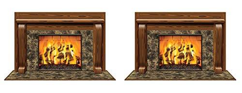 SMyFone S20193AZ2 Fireplace Insta-View 2 Piece, Multicolored