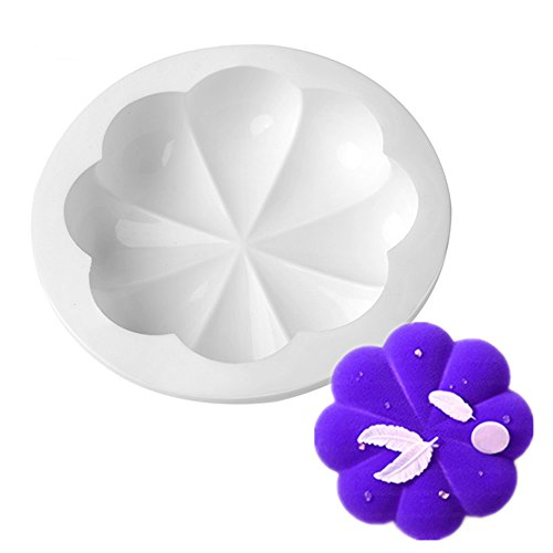 New Arrival Silicone Cake Mold 3D 8 Petals Non-stick Fondant Cake Decorating Tools for Bread Chiffon Dessert Baking Cake (Semi Homemade Halloween Recipes)