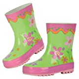 Stephen Joseph Little Girls' Flower Rain Boots