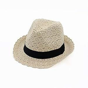 Hats Cotton Lace Hat with Band Womens Ladies Sun Summer Cap Fashion (Color : Beige, Size : Adjustable)
