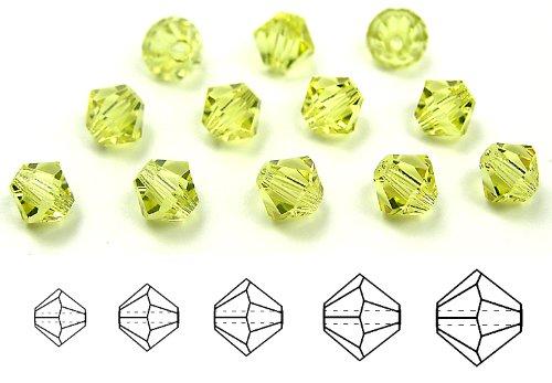 (8mm Jonquil, Czech MC Rondell Bead (Bicone, Diamond Shape), 1/2 gross =72 pieces)