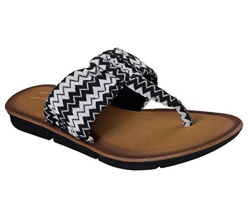Skechers Verwöhnen 2Spring Break Tanga Damen Sandalen schwarz / weiß