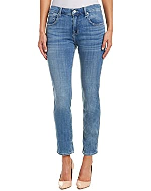Seven For All Mankind Womens 7 For All Mankind Clear Blue Broken Twill Relaxed Skinny Leg, 27, Blue