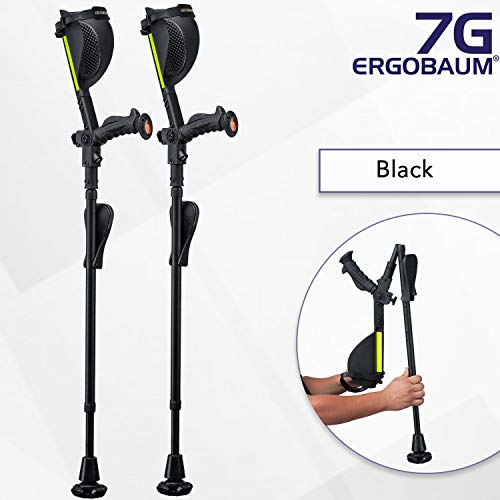 Ergobaum¨ Prime 7TH Generation by Ergoactives. 1 Pair (2 Units) of Ergonomic Forearm Crutches -...