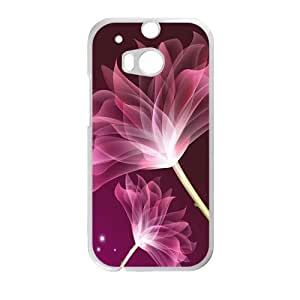 glam transparent red flower personalized high quality cell phone case for HTC M8