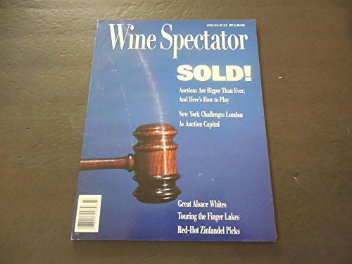 White Alsace Wine (Wine Spectator Sep 15 1995 Wine Auctions; Alsace Whites; Finger Lakes)