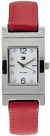 TOMMY HILFIGER 1781376 Silver-Tone Black & Red Reversible Watch