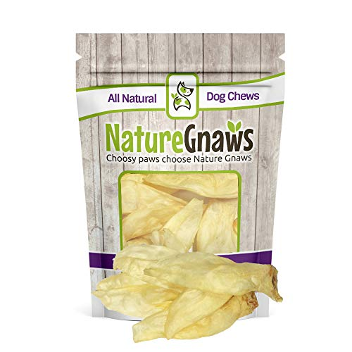 (Nature Gnaws Wild Hare Ears (20 Count) - 100% Natural Dog Chew Treats)