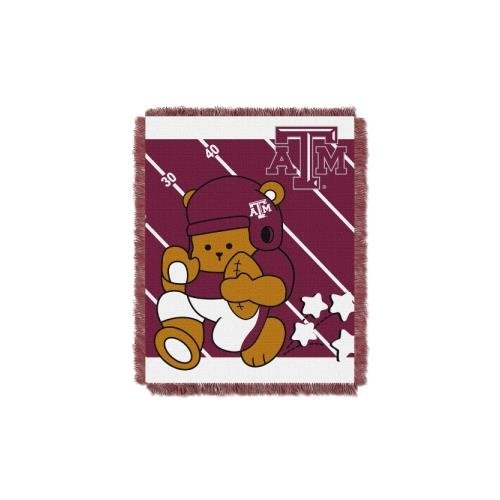 Texas A&m Aggies Woven Jacquard - The Northwest Company Officially Licensed NCAA Texas A&M Aggies Fullback Woven Jacquard Baby Throw Blanket, 36