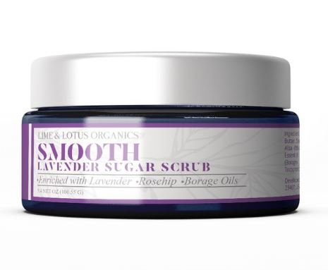 Smooth Lavender Sugar Scrub – Luxurious All Natural - Enriched with Lavender, Rosehip, and Borage Oils – Exfoliate and Hydrate Dry Skin Naturally with 7 Essential Oils