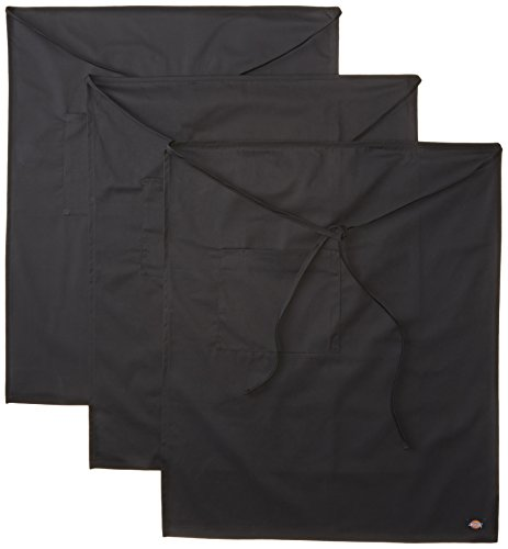 Dickies Chef  3 Pack Bistro Apron with Patch Pocket, Black, One Size