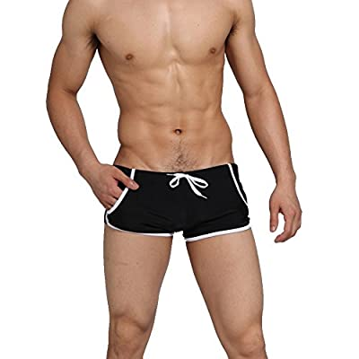 Koson-Man Men's Solid Swimwear Swimming Trunks