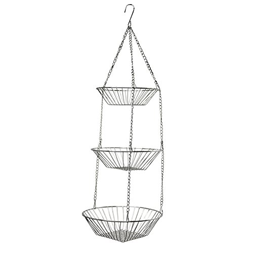 Oasis Collection Hanging Fruit Basket, FB029823, Chrome Finish - Hanging Basket Collection