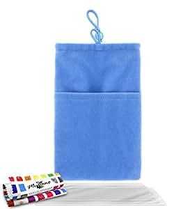 """Funda  LG L5 / E610 [""""Cocoon""""] [Azul] de MUZZANO + 3 Pelliculas de Pantalla """"UltraClear"""" + ESTILETE y PAÑO MUZZANO REGALADOS - La Protección Antigolpes ULTIMA, ELEGANTE Y DURADERA para su LG L5 / E610"""