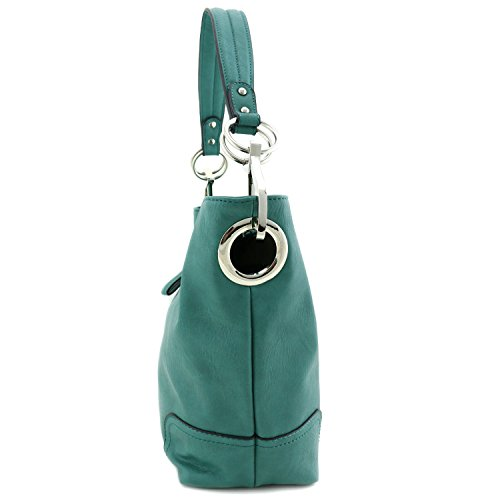 with Hardware Green Big Shoulder Hook Bag Snap Hobo WzBnExW
