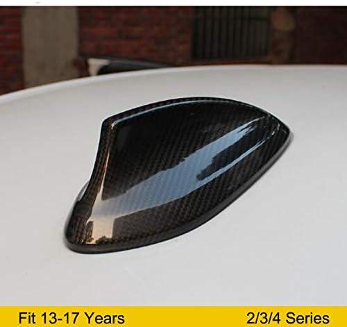 SENLINSQ カーボンファイバーシャークフィンアンテナカバー、BMW F22 F87 M2 F30 F80 M3 3シリーズGT F34 F32 F36 F80 M4カースタイリングアクセサリー2014