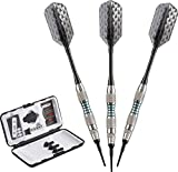 Viper Bobcat Adjustable Weight Soft Tip Darts with Storage/Travel Case: Nickel Silver Plated