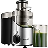 Juicer Juice Extractor, Aicook 65MM Wide Mouth Stainless Steel Centrifugal Juicer, BPA-Free, Non-Slip Feet, Three Speed Juicer Machine for Fruits and Vegetable