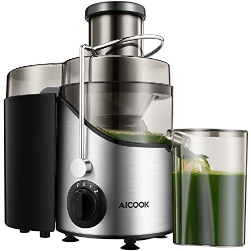 Why Choose Juicer Juice Extractor, Aicook 2020 Upgrade Centrifugal Juicer 3'' Wide Mouth, 3 Speed fo...