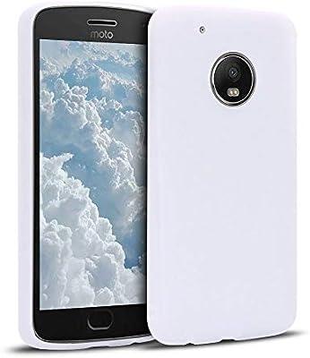 MOSORIS Funda Motorola Moto G5 Plus, Blanco Carcasa de Mate ...