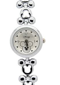 Renos damas Mickey mouse relojes pulsera en plata