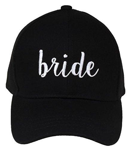H-2018-B-06 Bridal Baseball Cap - Bride (Black)