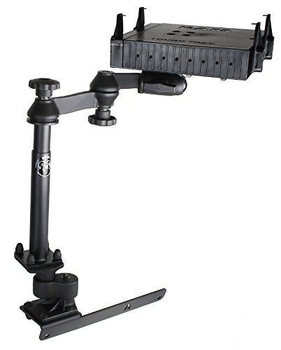 RAM Mount RAM-VB-178A-SW1-FL No-Drill Laptop Mount with Adjust-A-Pole and Tough-Tray Flat Retaining Arms for the Dodge RAM 1500-5500 92008-2016)