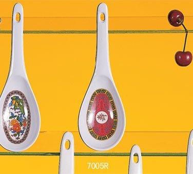 Thunder Group Asian Melamine Longevity Soup Ladle, 8 1/4 x 2 3/4 inch - 24 per -
