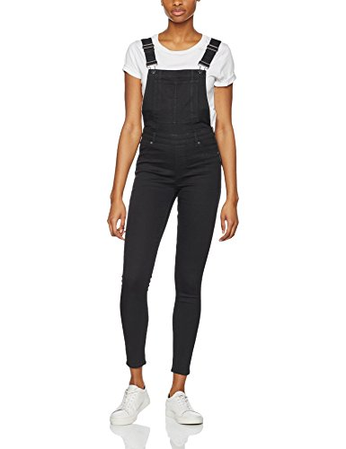 cheap-monday-womens-dungaree-spray-black-overalls-black-small