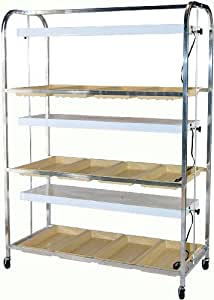 "Growers Supply Company Full Size Lite Cart Model G3AP2T8, 3 Shelves, 3 Fixtures, 53"" L x 24"" W X 74"" H (Discontinued by Manufacturer)"