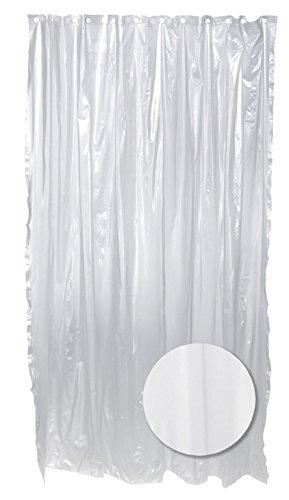 Zenna Home H27K, Lightweight PVC Vinyl Shower Curtain  Liner, 70 in x 72 in, Frost ()