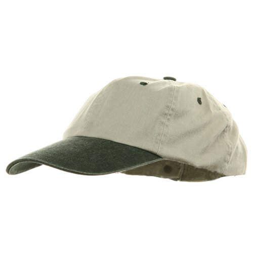 Youth Pigment Dyed Washed Cap - Beige Dark Green OSFM