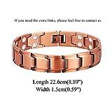 Feraco Mens Copper Bracelets Magnetic Bracelet for