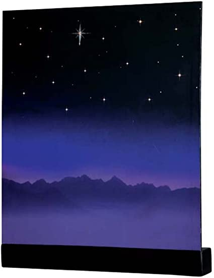 NEW LEMAX VILLAGE COLLECTION STARRY NIGHT BACKGROUND #64078