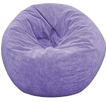 Astounding Amazon Com Giant Bean Bag Chairs For Adults Lilac Sueded Theyellowbook Wood Chair Design Ideas Theyellowbookinfo