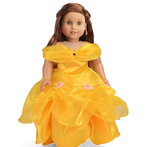 6aecf46cae727 Gorgeous Princess Belle-Inspired Ball Gown Doll Dress with Silver ...